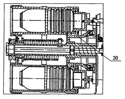 Рисунок А3. 6Г30 общий вид (разрез), схема фиксации выстрела