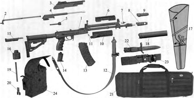 АК-12, основные части и механизмы автомата, принадлежности и комплектующие, Скачать НСД, наставление, скачать Руководство