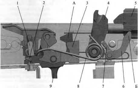 АК-12, Положения частей УСМ до заряжания при включенном предохранителе и спущенном курке, Скачать НСД, наставление, руководство