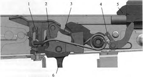 АК-12, Положения частей УСМ после выстрела при переводчике, установленном на автоматическую стрельбу, Скачать НСД, наставление, руководство