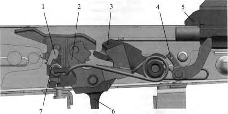 АК-12, Положения частей УСМ после выстрела при переводчике, установленном на одиночную стрельбу, Скачать НСД, наставление, руководство
