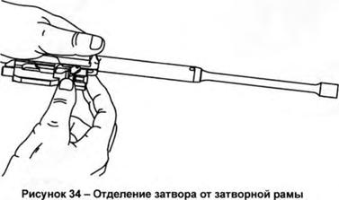 АК-12, Отделение затвора от затворной рамы, Скачать НСД, наставление, руководство