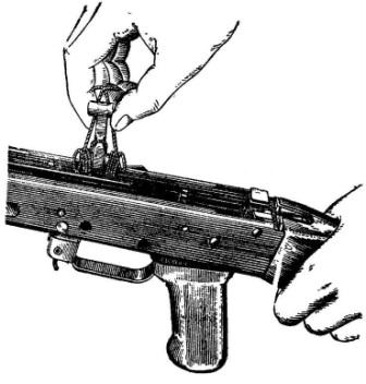 Рис. 19. Извлечение курка из ствольной коробки АК74