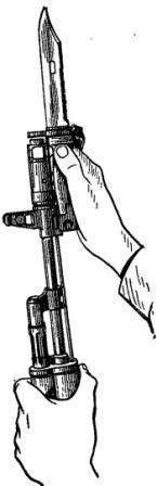 Рис. 25. Примыкание штыка-ножа АК74