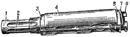 Рис. 40. Газовая трубка со ствольной накладкой АК74