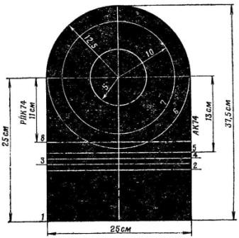 Рис. 53. Проверочная мишень АК74