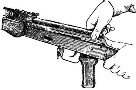 Рис. 7. Отделение крышки ствольной коробки АК74