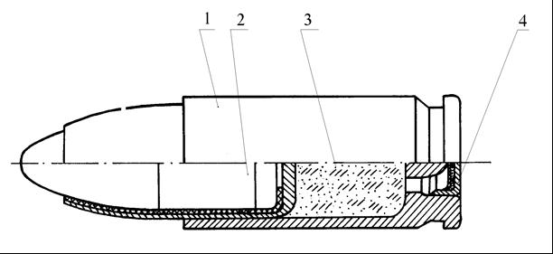 Рисунок 1.3 – Пистолетный патрон