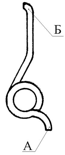 """Рисунок 2.15 – Пружина спускового крючка СР1М """"Вектор"""""""