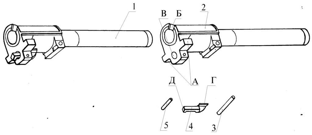 """Рисунок 2.5 – Ствол в сборе СР1М """"Вектор"""""""