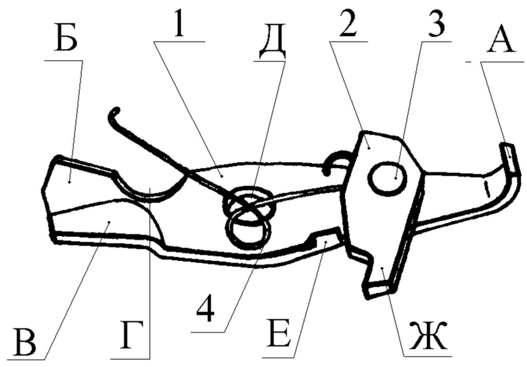 """Рисунок 2.7 - Останов в сборе СР1М """"Вектор"""""""