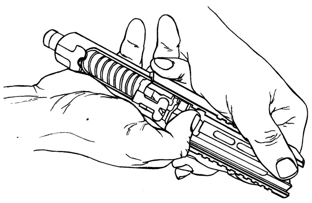Рисунок 4.10 - Присоединение ствола к затвору