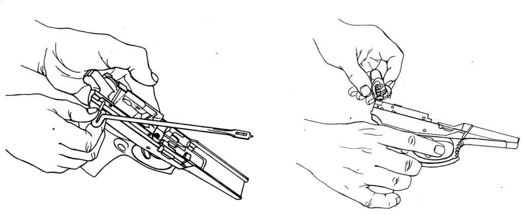 Рисунок 4.14 - Отделение курка со штоком и боевой пружиной