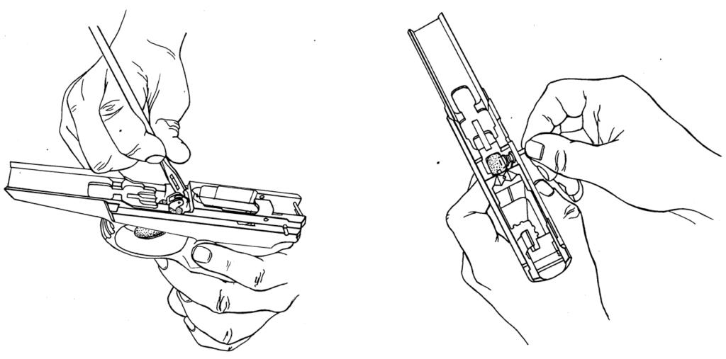 Рисунок 4.17 - Отделение оси спускового крючка
