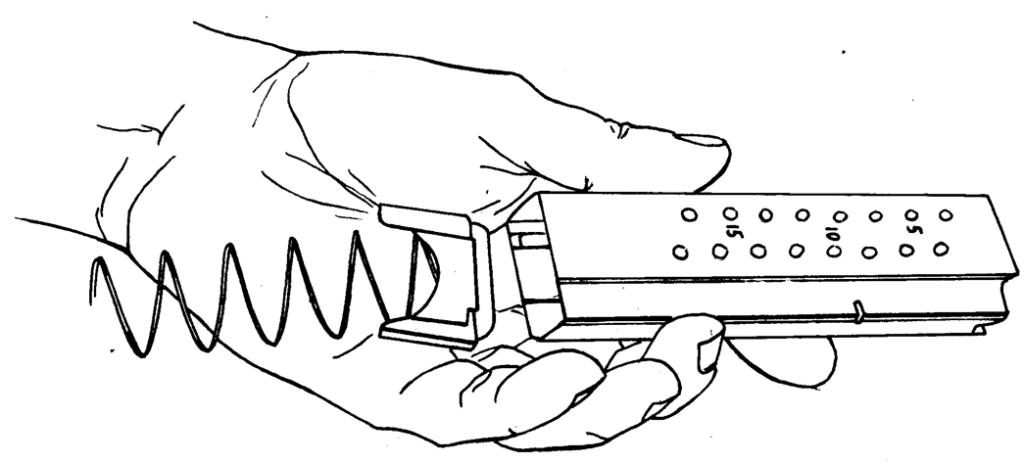 Рисунок 4.26 - Отделение пружины магазина и подавателя