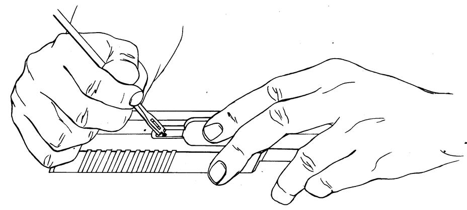Рисунок 4.29 - Присоединение выбрасывателя к затвору