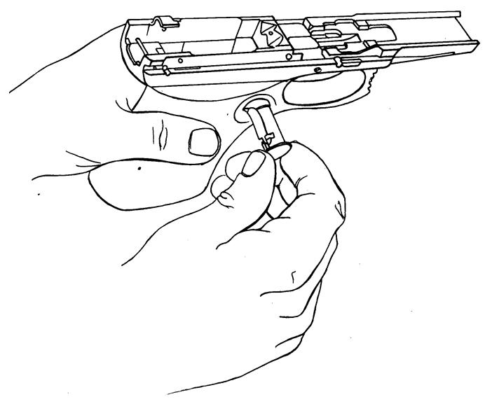 Рисунок 4.31 - Присоединение защелки магазина