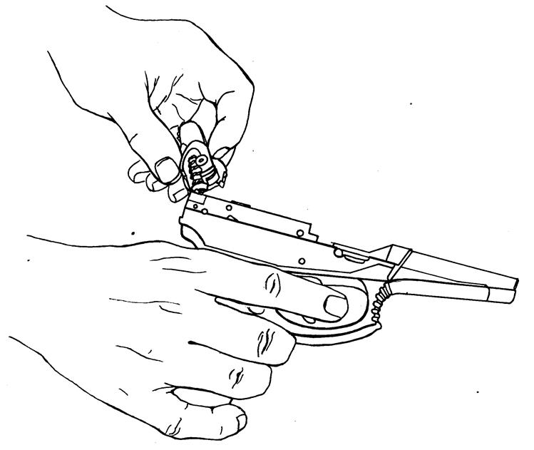 Рисунок 4.38 - Присоединение курка
