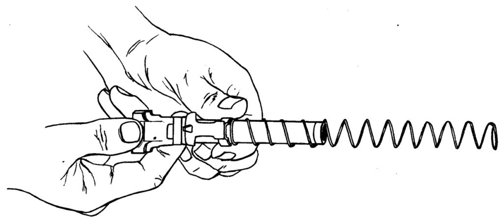 Рисунок 4.9 - Присоединение возвратной пружины с упором