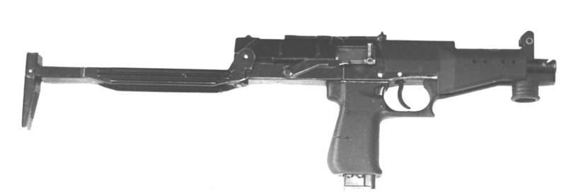 Рисунок 1.1-Пистолет-пулемет СР2 с откинутым прикладом