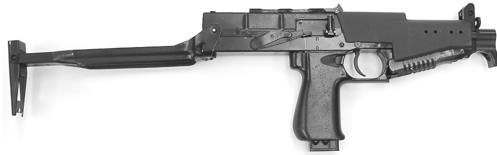 Рисунок 1.3 - Пистолет-пулемет СР2М с откинутым прикладом