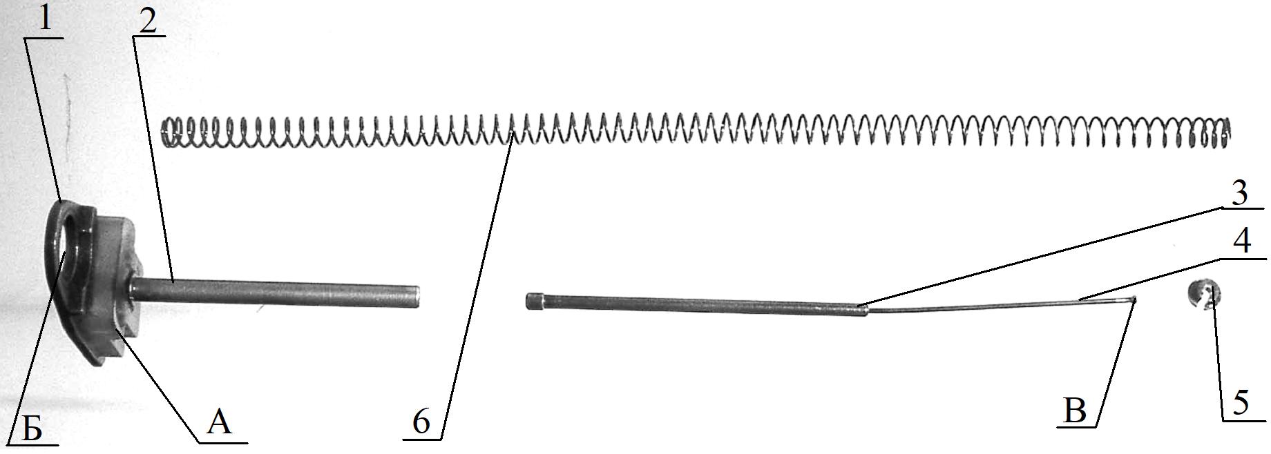 Рисунок 2.12 – Упор и направляющая с боевой пружиной СР2М