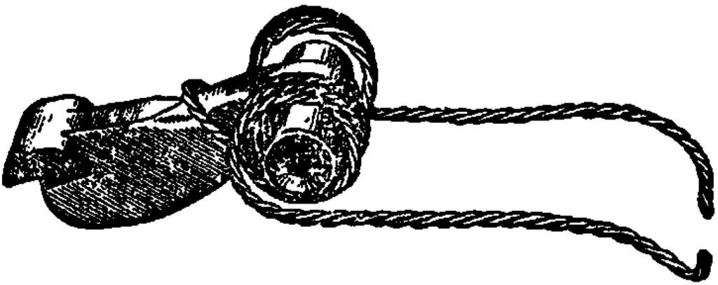 Рис. 22. Положение боевой пружины на курке АК