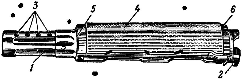 Рис. 36. Газовая трубка со ствольной накладкой АК