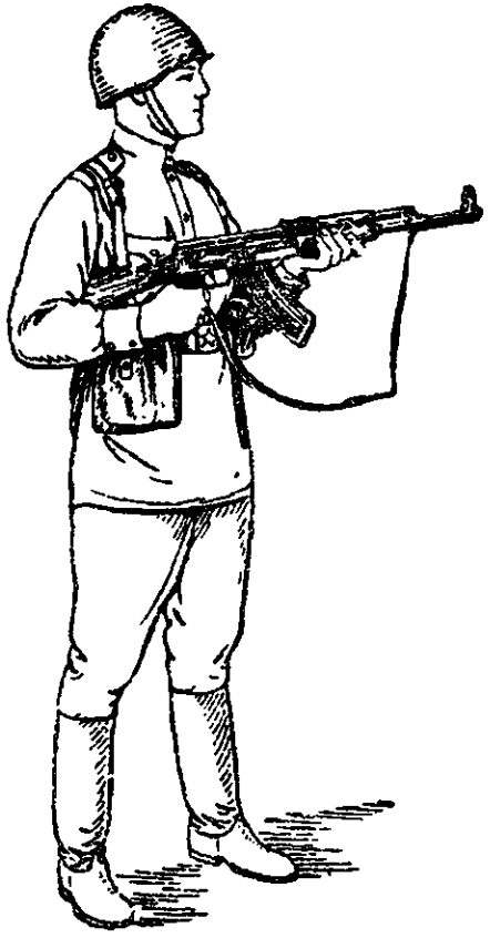 Рис. 50. Изготовка к стрельбе стоя АК