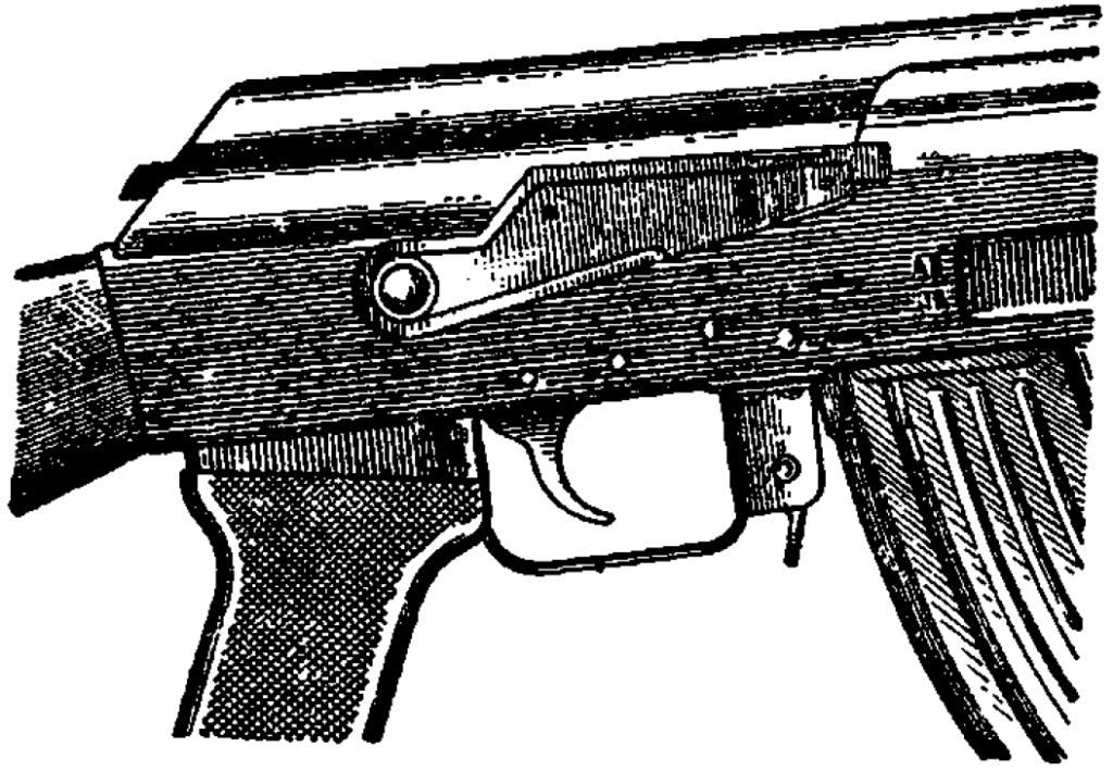 Рис. 61. Автомат поставлен на предохранитель АК