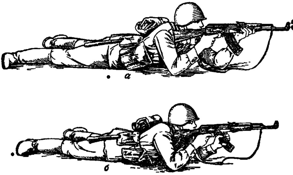 Рис. 65. Прикладка при стрельбе лежа