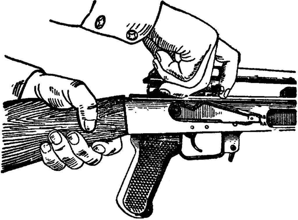 Рис. 7. Отделение затворной рамы с затвором АК