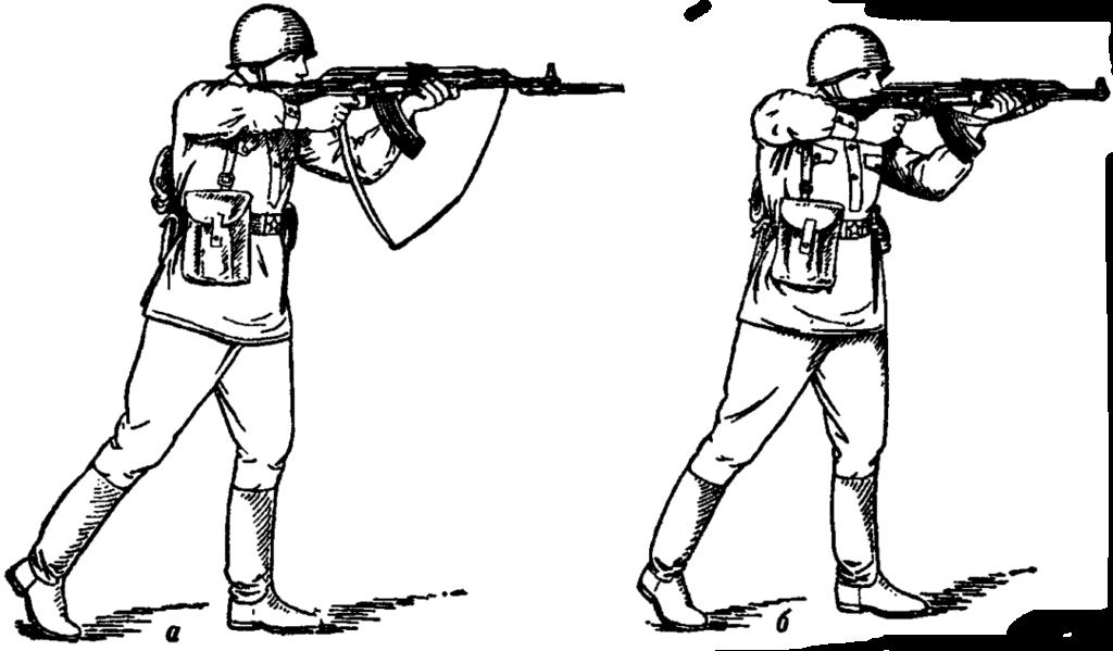 Рис. 81. Стрельба на ходу навскидку