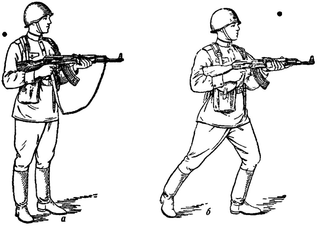 Рис. 83. Стрельба с упором затыльника в плечевую часть руки