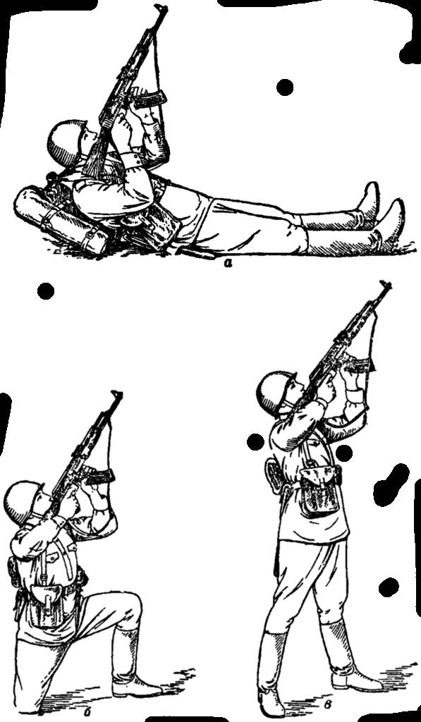 Рис. 92. Стрельба по воздушным целям на открытой местности