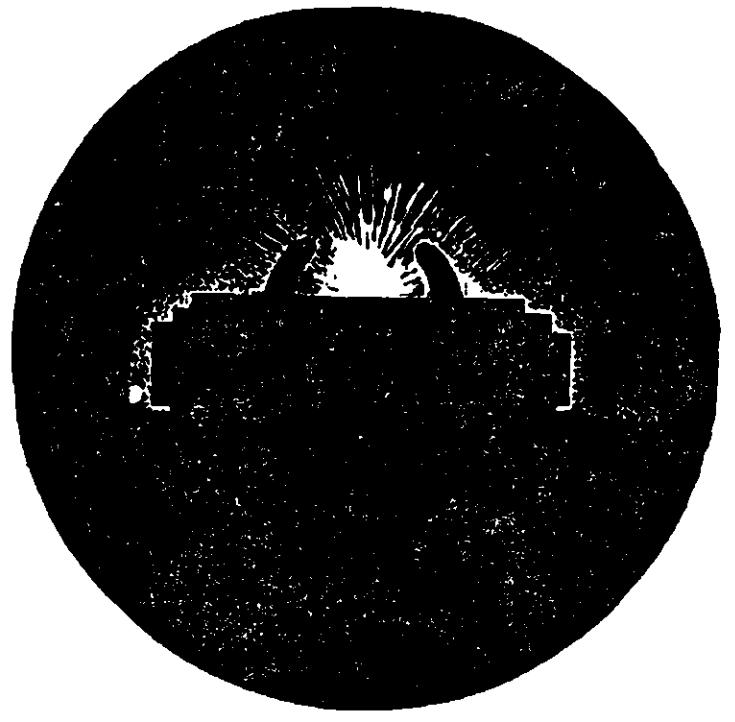 Рис. 97. Прицеливание при стрельбе по вспышкам